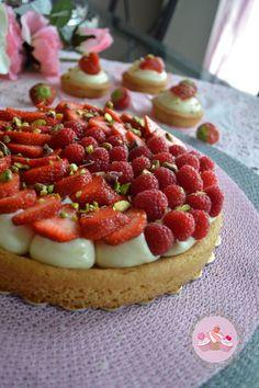 Tarte aux fraises sur palet breton
