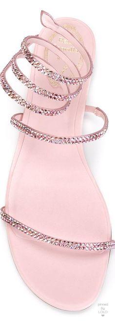 RENE CAOVILLA Crystal Embellished Sandal | LOLO❤︎