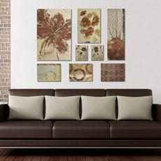 Decorator Solution Floral 8-Piece Wall Art Set