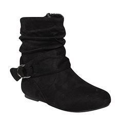 Da Viccino Womens Buckle Slouchy Flat Ankle Booties Half Size Small Color Black *** Details can be found by clicking on the image. (This is an affiliate link) Slouchy Ankle Boots, Ankle Booties, Online Shopping Shoes, Mid Calf Boots, Women's Pumps, Low Heels, Ankle Strap, Fashion Shoes, Booty