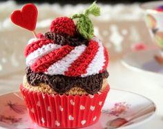 Haak Cupcake 34 Kiwi zomercollectie van IamaMess op Etsy