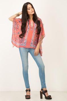 BLUSA PONCHO DAFNY Kimono Top, Women, Fashion, Blouses, Clothing, Moda, Fashion Styles, Fashion Illustrations, Woman