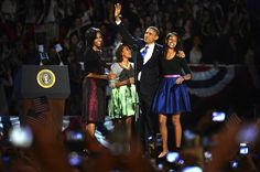 Michelle Obama Repeats Michael Kors Stunner On Election Night - such a pretty family!