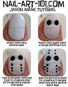 Simple, Easy & Scary Halloween Nail Art Tutorials 2013 For Beginners & Learners | Girlshue