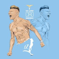 Ciro Immobile  SS Lazio, made with Adobe Illustrator