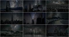The City After Dark: Cities from around the world with zero light pollution