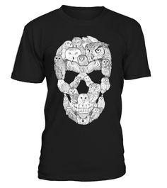 I Love Owl Skull Shirts & Tees tshirt tshirts Penguin T Shirt, Owl T Shirt, Frog T Shirts, Tee Shirts, Halloween Shirts For Boys, Skull Shirts, Shirts For Teens, Cute Tshirts, Tee Design