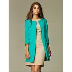 Veste longue 'Eva'... Bleu turquoise - Achat / Vente veste - Cdiscount