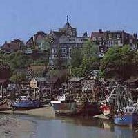 Rye, East Sussex, England. The town's hard-working Fishing Fleet dock at the edge of Rye so just a minute or two from the high street you can buy freshly caught fish and seafood, not least Rye Bay Scallops.