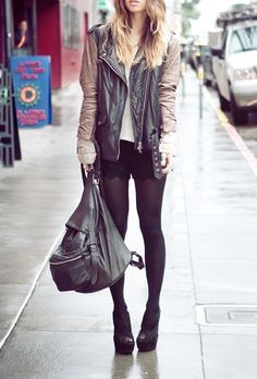 Two tone leather jackets.