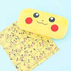 Pokemon Pikachu Fluffy Eyeglass Case - Blippo Kawaii Shop Cute Glasses, Glasses Case, Eyeglasses, Pikachu, Super Cute, Kawaii Accessories, New Pokemon, Kawaii Shop, Welcome Gifts