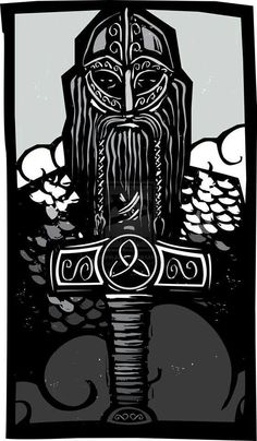 Viking & Thor's Hammer Mjolnir