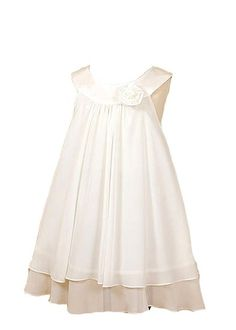 $34.95 Amazon.com: Kid's Dream Girl's Ivory Simple Chiffon Girl Dress: Clothing