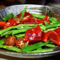 Green Bean & Roasted Red Pepper Salad
