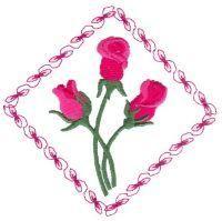 Rose Decor Diamonds Small - Aljay Designs   OregonPatchWorks