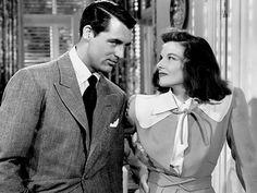 "Cary Grant and Katherine Hepburn (1940's ""The Philadelphia Story)"