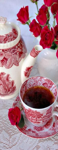 Red and White ♥✤China Tea Style