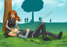 Ginny and Draco by *stratosmacca