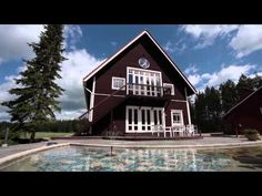 Villa Mandala is a wellness retreat and conference center located in Loviisa, about 1 hour's drive from Helsinki, in the most picturesque countryside on Finl. Wellness Center, Finland, Countryside, Mandala, Places To Visit, Villa, Cabin, House Styles, Home Decor