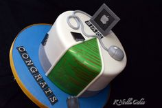 Computer theme graduation cake by K Noelle Cakes