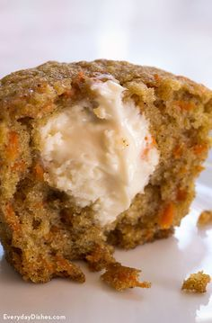 Inside out carrot cake muffins recipe. Have tried it out and it was delicious!