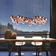 Luxury Designer Random Suspension Lamp - Italian Designer Lighting that recalls the fabulous Living Coral PANTONE Color of the Year 2019.