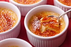 Eggnog Crème Brûlée. I made these for New Year's Eve. They were impressive, easy to make, and prepped ahead of time--the triple crown of recipes for hosting. Pinning so I can make them again.