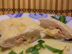 Tasca di pollo ripiena al latte