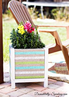 DIY Paver Planter wi