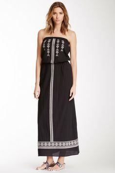 Velvet by Graham & Spencer Strapless Embroidered Maxi Dress by Velvet By Graham & Spencer on @HauteLook