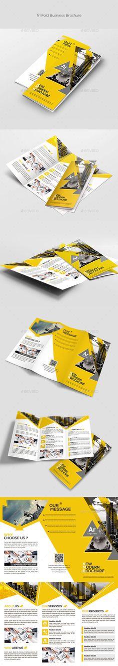 Tri-Fold Corporate Brochure Template #brochure Download: http://graphicriver.net/item/trifold-corporate-brochure/11540161?ref=ksioks