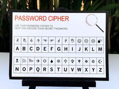 Spy Party or Secret Agent Party Password Cipher | Birthday Party | INSTANT DOWNLOAD via SIMONEmadeit.com