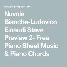 Nuvole Bianche-Ludovico Einaudi Stave Preview 2- Free Piano Sheet Music & Piano Chords