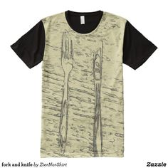fork and knife All-Over-Print T-Shirt Stylish Shirts, Cool T Shirts, S Shirt, Shirt Style, T Shirt Photo, Printed Shirts, Fork, T Shirts For Women, Mens Tops