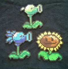 Plants Vs. Zombies Perler beads by AesynneZephyrstorm on deviantART