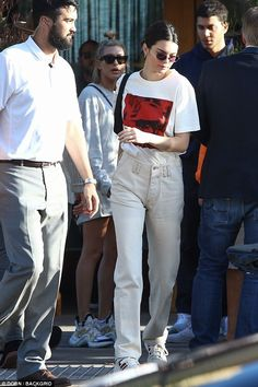 Friends! Kendall Jenner, 22, and Hailey Baldwin, 21, seemed to be in need of refreshments ...