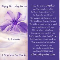 Happy Birthday Mom In Heaven Quotes (shared via SlingPic)