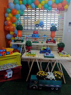 Baby Shower, Birthday, Home Decor, Construction Theme Party, Dump Truck Party, Transportation, Cars Birthday Parties, Pocoyo, Celebration