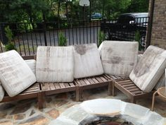 How To Rehab An Outdoor Sectional. Cleaning ...