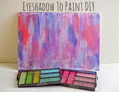 Have some old eyeshadow lying around that your not using? Learn how to turn that eyeshadow into paint by following this tutorial! #upcycle