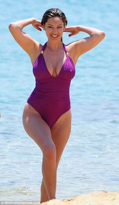 Kelly Brook...I don't know who she is but I do love the fact that she is voluptuous and curvy.