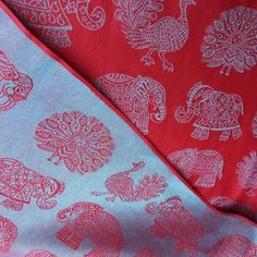 Fabric example for simple cotton skirts/dresses. Didymos India Holi ~ Cotton/Linen blend