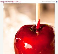 SALE Carnival / fair / circus food photo - Candy Apple Red - 8x8 - teacher gift idea home decor gothic. $20.00, via Etsy.