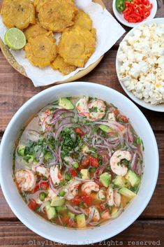 Shrimp and avocado ceviche – Laylita's Recipes Fish Recipes, Seafood Recipes, Mexican Food Recipes, Salad Recipes, Chicken Recipes, Cooking Recipes, Healthy Recipes, Mexican Desserts, Cooking Tips