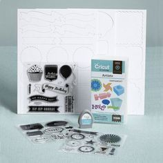CTMH - Cricut Artiste Collection with 3 stamp sets and Artiste Cricut Cartridge