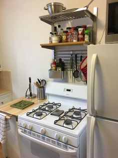 Help my kitchen has no storage! Using IKEA kungsfors system my kitchen looks put together. Ikea Kitchen Interior, Ikea Kitchen Design, Small Apartment Kitchen, Small Kitchen Organization, New Kitchen Designs, Kitchen Ideas, Kitchen Inspiration, Kitchen Stove, Kitchen Dining
