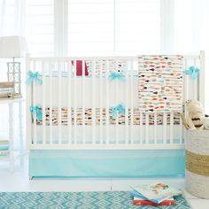 Tribal Aztec Baby Boy Crib Bedding Set