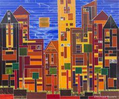 New City: Indian Summer van Monique Boutens is te koop op KUNSTmarktplaats.nl. #kunst #glas #city