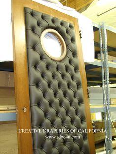 leather padded door diy google search doors pinterest soumission truc et hommes. Black Bedroom Furniture Sets. Home Design Ideas