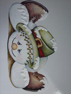 Pintura em tecido -Boneco de Neve